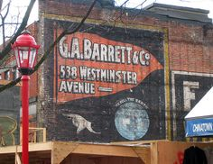Ghost Signs: via pasttensevancouver:    GA Barrett & Co.  This is a ghost sign that was briefly exposed during the construction of a new building on Main Street in 2003. Main Street was called Westminster prior to 1910.  Source: redpistol on Flickr    Very cool.