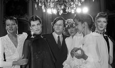 Well trained: Scherrer (pictured with models in Paris in 1983 after his spring-summer haute couture collection) began his career alongside the late Yves Saint Laurent as a design assistant at Dior Stephane Rolland, Jackie Kennedy, Monsieur Jean, Jean Louis Scherrer, Age, Couture Collection, Christian Dior, Catwalk, Yves Saint Laurent