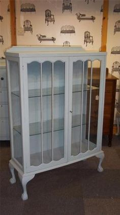 Painted vintage display cabinet - refurbished with love by Fleur Vintage x