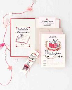 Book themed baby shower (Rifle Paper Co.)