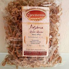 Παραδοσιακά Ζυμαρικά  -  'Εμνοστον: Και η νέα μας ετικέτα στα λαζάνια 100% ολικής άλεσ...