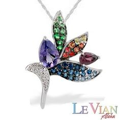 White gold le vian aloha collection bird of paradise ring with multi white gold le vian aloha collection bird of paradise pendant with gemstones and diamonds chain aloadofball