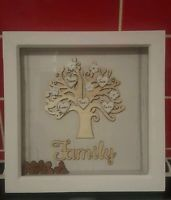 wooden box frames mdf family or grandchildren tree personalised mothers day