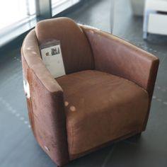 Pony leather armchair Carelli  #pony #leather #Carelli #armchair