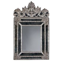 Large and Impressive Silvered Mirror | From a unique collection of antique and modern wall mirrors at https://www.1stdibs.com/furniture/mirrors/wall-mirrors/ Large and Impressive Silvered Mirror  Offered By Mayfair Gallery  $22,450.05
