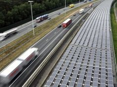 In Belgium, solar panels sit on top of a tunnel, & generate enough electricity to power over 900 homes.
