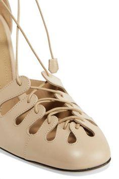 The Row   Diamond lace-up leather pumps   NET-A-PORTER.COM