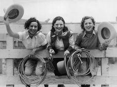 1930s rodeo gals. | 15 Retro Pics Of Truly Badass Cowgirls