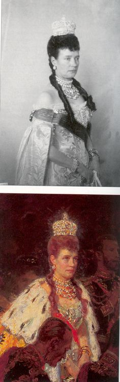 1896 Empress Marie at the coronation of her son Nicholas II