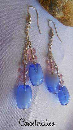 orecchini handmade con pietre dure e cristalli : Orecchini di caracteristica