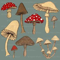 More mushroom fabric. Yes, I'm obsessed.