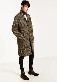 Today's Look: Overcoat. Photo: Zara. #ootd #menswear #mensfashion #mensstyle #instafashion #rollneck #chelseaboots #overcoat