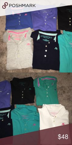 Collared Uniform shirts School uniform shirts that aren't needed anymore. They're all in great condition. Aeropostale Tops
