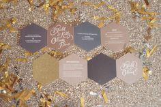 Modern Metallic and Geometric Wedding Ideas