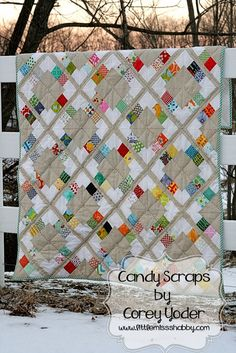 Candy Scraps quilt by Corey of Little Miss Shabby  Free pattern