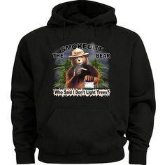 Smokeout the bear hoodie funny weed pot 420 sweatshirt Men's hooded sweatshirt #Gildan #Hoodie