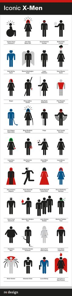 Iconic X-men///icons for X-men characters