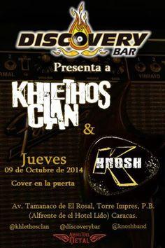 Cresta Metálica Producciones » KHLETHOS CLAN y KNOSH este jueves 9 de octubre en Discovery Bar