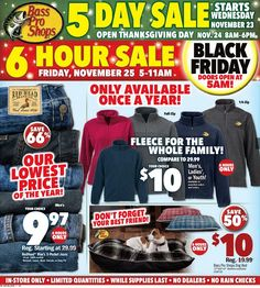 Bass Pro Shops 2016 Black Friday Ad Preview
