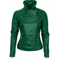 Leather Skin Shop is the only online store that offers Real Genuine Leather Jackets for Women of all ages. Pick your favorite color be it, Red, Yellow, White or other and on your style game! Leather Skin, Black Leather, Mode Rock, Green Leather Jackets, Jacket Style, Jacket Men, Leather Fashion, Leather Outfits, Jackets For Women