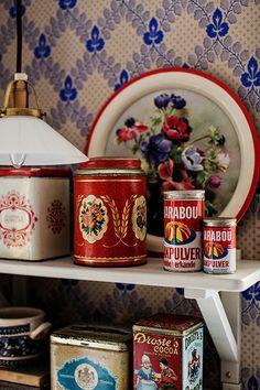 vintage tins | collectibles + home decor