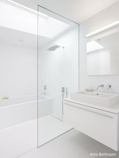 Gallery of Rear Window House / Edward Ogosta Architecture - 13 - Home Design Scandinavian Interior Design, Contemporary Interior Design, Bathroom Interior Design, Decor Interior Design, Interior Decorating, Bad Inspiration, Bathroom Inspiration, Minimalist Bathroom, Modern Bathroom