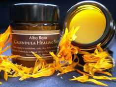 Calendula Healing Salve is a simple but effective addition to any medicine cabinet. Calendula Oil, Cracked Skin, Lavender Oil, Candle Jars, The Balm, Essential Oils, Healing, How To Apply, Skin Care