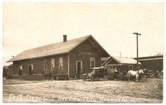LAKEVIEW, MICH. Pere Marquette PM Railroad Depot - Real Photo RPPC ca. 1920