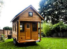 Tammys Tiny House. This is the other end of the house that Tammy and Logan have over at RowdyKittens. Somehow they have French Doors on the side and a porch. The only thing they don't have is dormers in the loft. And, naturally, a bigger porch. Plus, this couple has great taste.