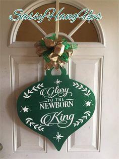 Christmas Ornament Door Hanger, Christmas Door Hanger, Christmas Wreath, Christmas Door Decor, Chris