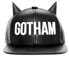 BADACIOUS Leather Gotham Snap Back ( 86) ❤ liked on Polyvore featuring  accessories 30ad0e38732d