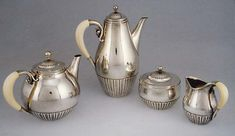Sugar with lid by Johan Rohde, Modern and Contemporary Art Gift of Maxine Harrison, 1991 Metropolitan Museum of Art, New York, NY Medium: Silver and ivory Charles Demuth, Art Nouveau, Art Deco, Large Art, Metropolitan Museum, Tea Set, Metal Working, Tea Party, Contemporary Art