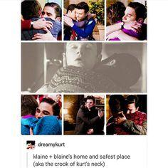 I never realized that Blaine was always in Kurts neck XD