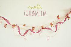 #Tutorial para hacer esta #guirnalda con #washi tape y otras #cintas