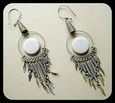 Vintage Drop Earrings Boho Earrings Long Dangly Earrings Chandelier Earrings Hippie Earrings Native American Mexican Earrings Southwestern