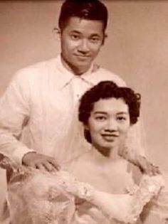 Future Philippine senator Ninoy Aquino and future Philippine president Corazon Aquino on their wedding in Pasay in 1954. Their son, Noynoy, served as the 15th President of the Philippines. #kasaysayan President Of The Philippines, Our Lady Of Sorrows, First Boyfriend, Philippine News, Nelson Mandela, Getting Engaged, Mother And Father, Got Married, Corazon Aquino