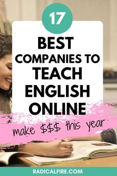 Do you want to make money from home? Try teaching English online as a way to work from home or make a side income. Here are the best teaching English jobs and how much you can make with them! Make extra dough this year! #makemoney #extramoney #extraincome #sidehustle #radicalfire