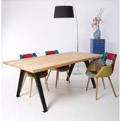 Dyyk Sparrow Tafel met Zwarte Poten - 100x220 cm