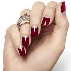 cool Модный красный френч на ногтях (50 фото) — Изысканная утонченность