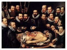 Michiel van Mierevelt, La lezione di anatomia del dottor Willem van der Meer, 1617