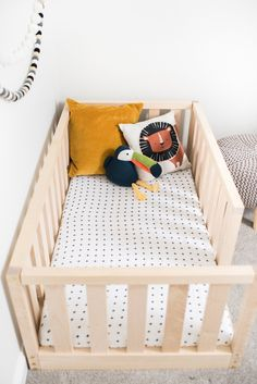 US Crib Size Toddler bed Play bed frame Children bed Bunk bed Wood Floor bed Woo. - US Crib Size Toddler bed Play bed frame Children bed Bunk bed Wood Floor bed Wooden bed Wood Montes -