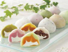 daifuku - (cream filled mochi) stylish japanese food