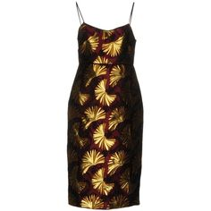 Jucca Knee-length Dress (€245) ❤ liked on Polyvore featuring dresses, deep purple, pocket dress, knee high dresses, multicolored dress, sleeveless knee length dress and colorful dresses