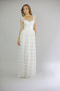 FionaVestido de novia de encaje y seda por Leanimal en Etsy