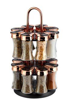 Buy Tower 16 Jar Spice Rack from the Next UK online shop Cute Kitchen, Kitchen Sets, Home Decor Kitchen, Cool Kitchen Gadgets, Cool Kitchens, Spice Rack Black, Kitchen Utensils, Kitchen Appliances, Kitchen Canisters