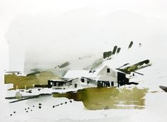 Watercolor painting Iceland 3