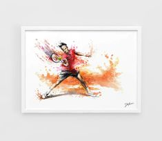 Roger Federer  A3 Art Prints of the Original by NazarArt on Etsy, $15.00