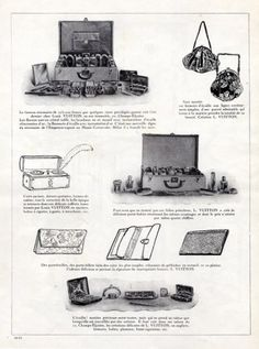 Louis Vuitton (Leather goods) 1917 Toiletries Bags Inkstand Handbags Archive documents French Clippings | Hprints.com