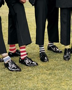 These groomsmen incorporated a pop of playful into their formal attire