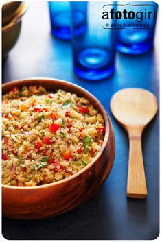 Quinoa salad with dijon dressing...Sounds like quite a bit of olive oil to me, but I'm sure I could cut it down.